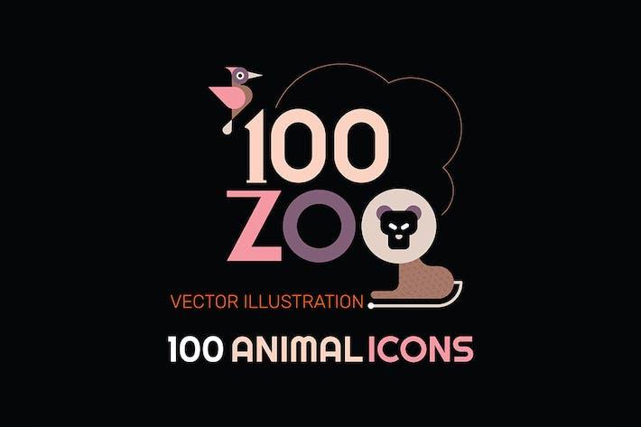 100+ Zoo-Tier-Icon-Set