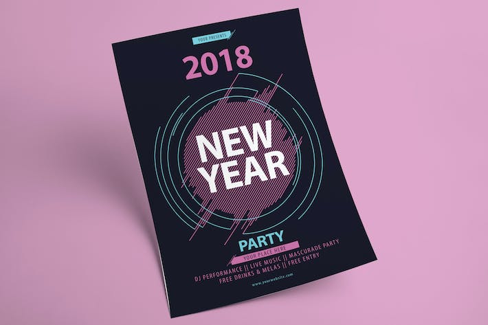 Thumbnail for New Year Party Flyer
