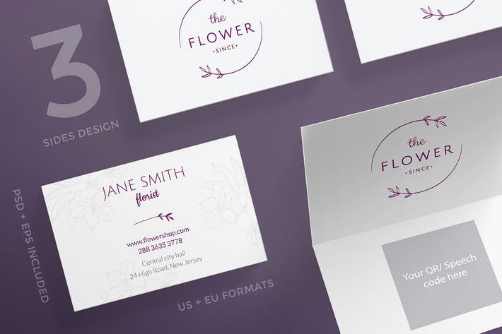 Thumbnail for Flower Shop Business Card Template