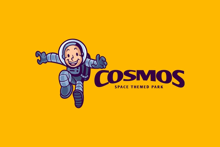 Thumbnail for Retro Cartoon Kid Astronaut Character Mascot Logo