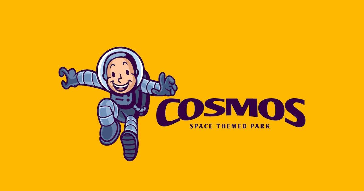 Download Retro Cartoon Kid Astronaut Character Mascot Logo by Suhandi