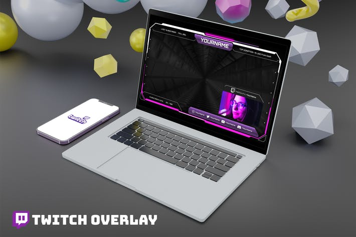 Magneon - Twitch Overlay Template