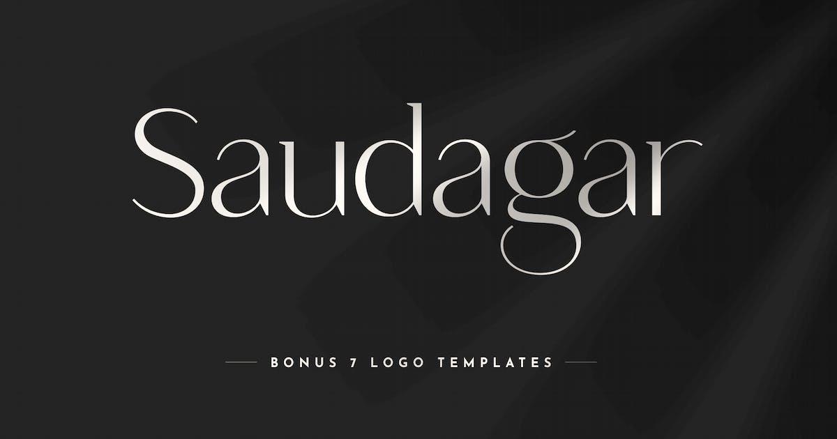 Saudagar Display Font + 7 Bonus Logo by HamzStudio