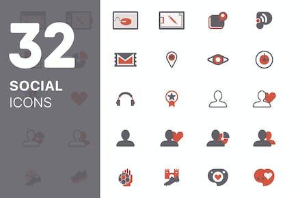 Soziale Icons