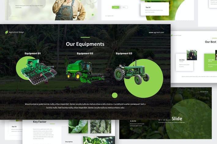 Thumbnail for Agritech - Agriculture Google Slides Template