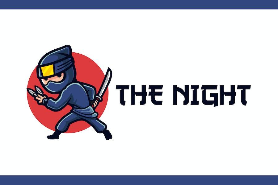 Cartoon Ninja Mascot Logo