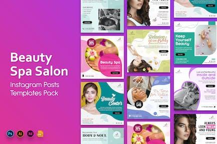 Beauty and Spa Salon Social Media Post Templates
