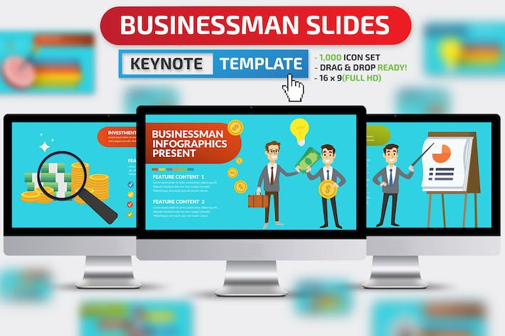 Thumbnail for Businessman Keynote Presentation