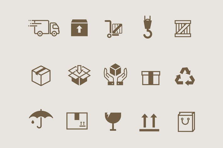 Thumbnail for 15 Box & Packaging Icons