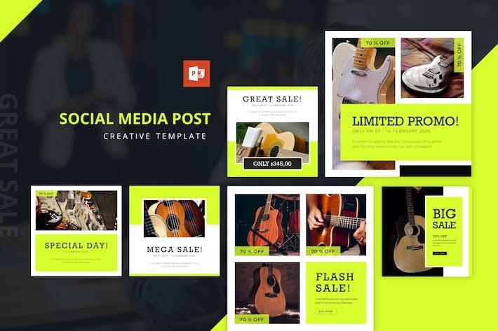 Thumbnail for Гитара Распродажа Instagram Лента Powerpoint Шаблон
