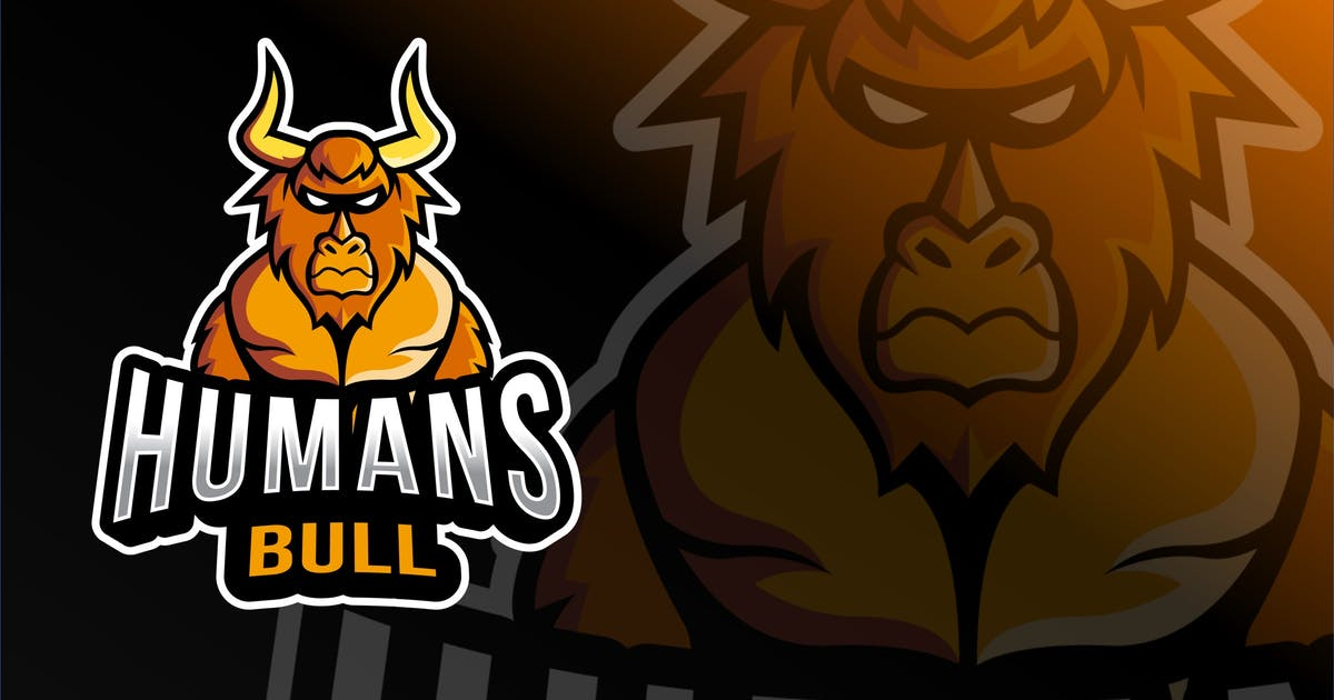 Download Humans Bull Esport Logo Template by IanMikraz