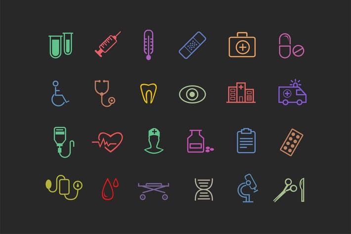 Thumbnail for 24 Medical Icons