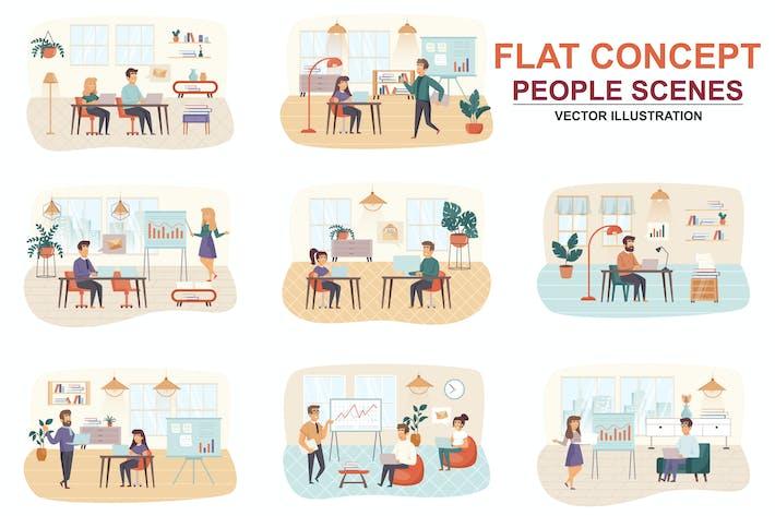 Sammlung Management Wohnung Konzept Menschen Szenen