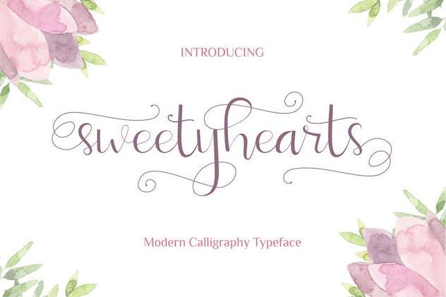 Sweetyhearts - Modern Calligraphy Font