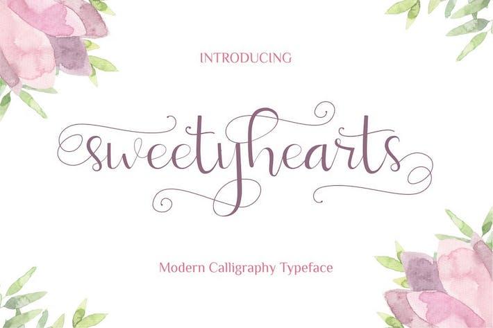 Thumbnail for Sweetyhearts - Modern Fuente de Caligrafía