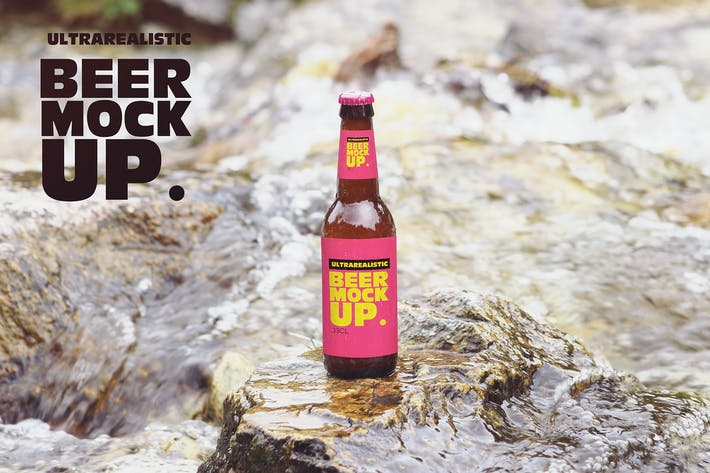 Thumbnail for Nature River Beer Mockup