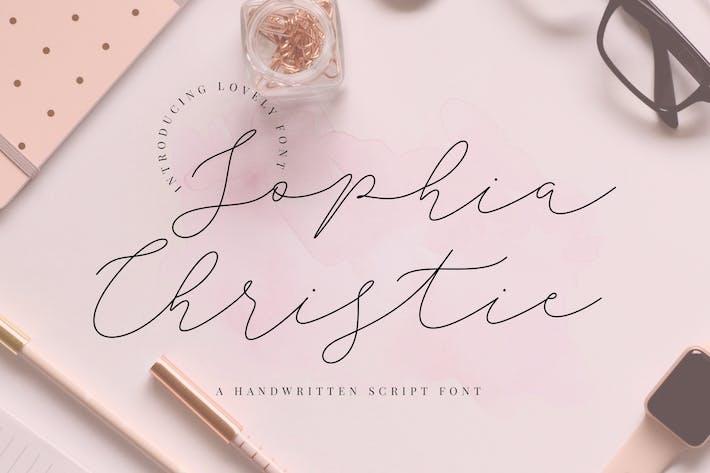 Thumbnail for Sophia Christie Script