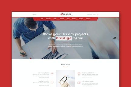 Prestige - Single Page HTML Template