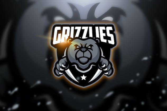 Grizzlies - Mascot & Esport Logo