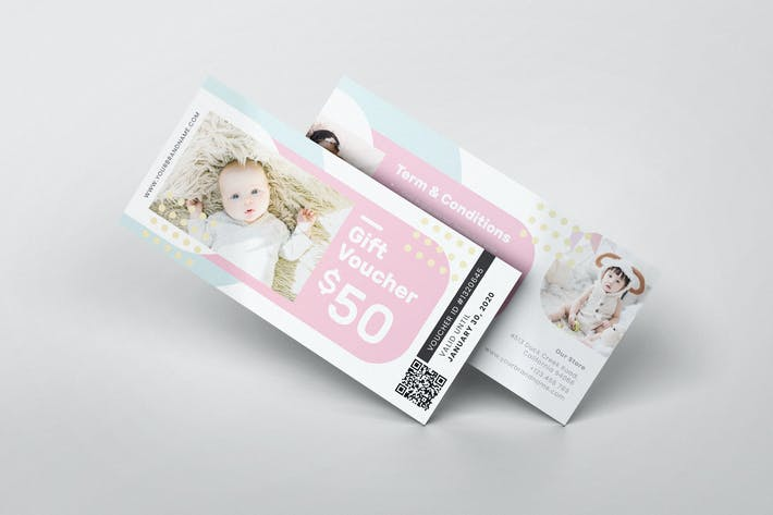 Thumbnail for Baby Shop AI and PSD Gift Voucher