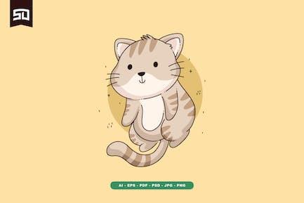 Cute Cat Design Illustration