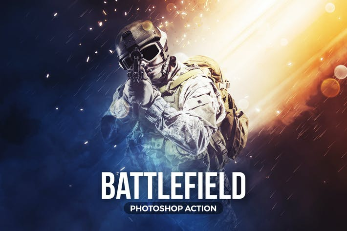 Thumbnail for Battlefield Photoshop Action