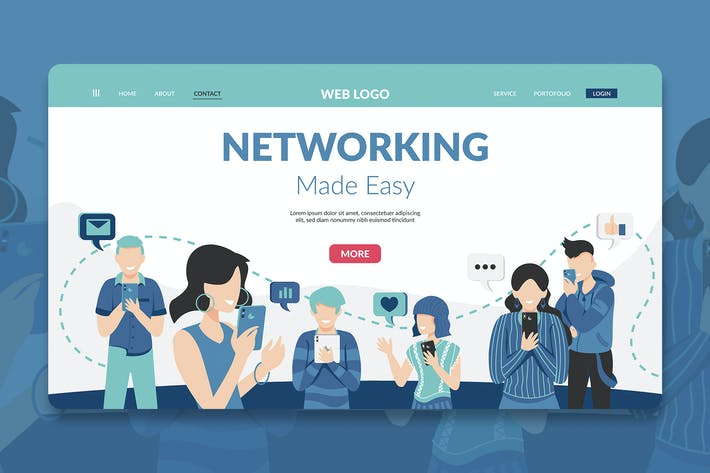 Thumbnail for Networking Modern Landing Page Hero