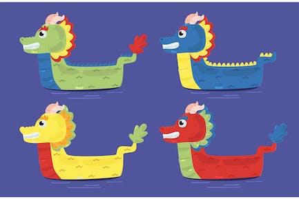 Drachenboot-Abbildung