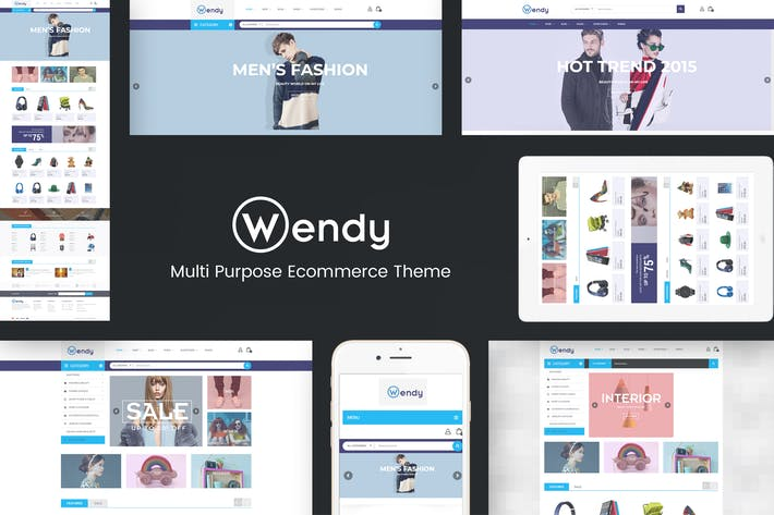 Thumbnail for Wendy - Multi Store WooCommerce Theme