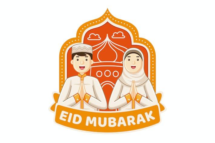 Thumbnail for Eid Mubarak Illustration
