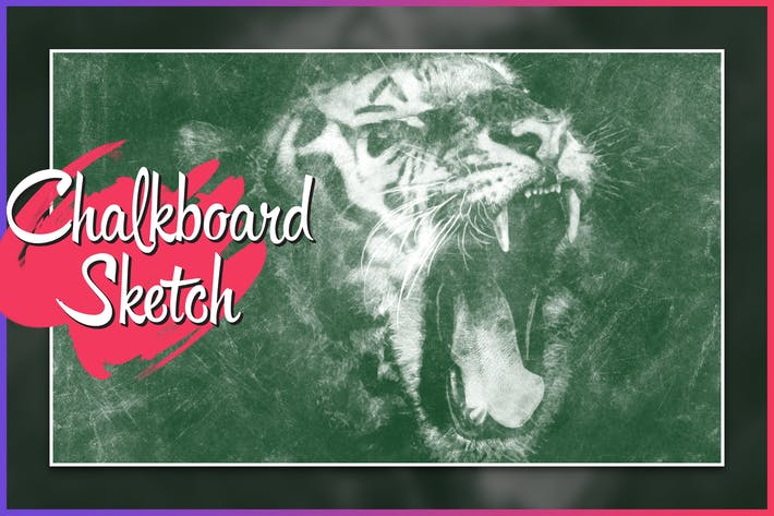 Thumbnail for Chalkboard CS4+ Photoshop Action