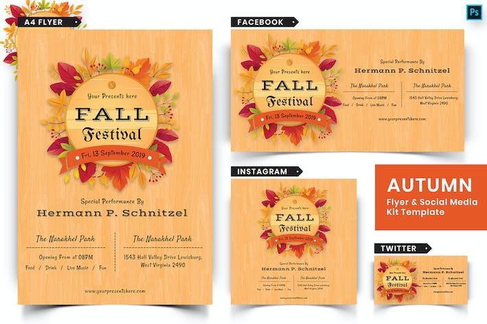 Thumbnail for Autumn Festival Flyer & Social Media Pack-07