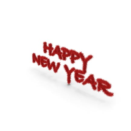 Red Foil Tree Symbol Happy New Year