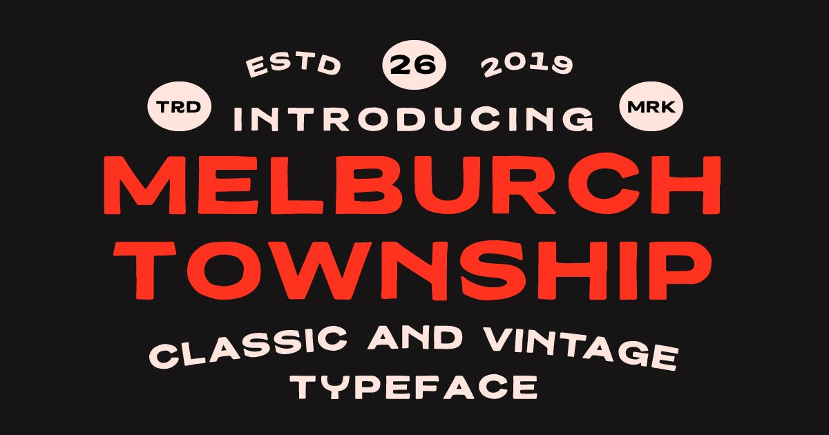 Download Melburch Typeface by MartypeCo
