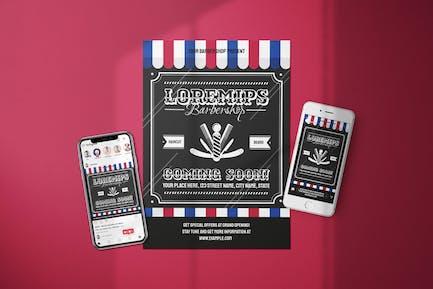 Barber Shop - Coming Soon Flyer Media Kit
