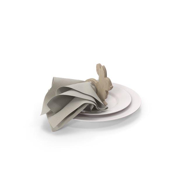 Wood Bunny Serviettenring für Ostern