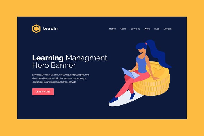 Thumbnail for Teachr - Hero Banner Template