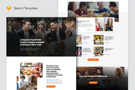Food Feasts Community Website Landing