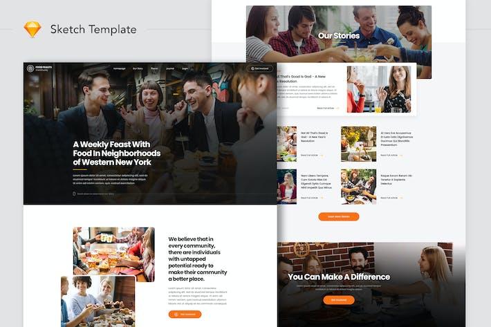 Thumbnail for Food-Feste Community Website Landung