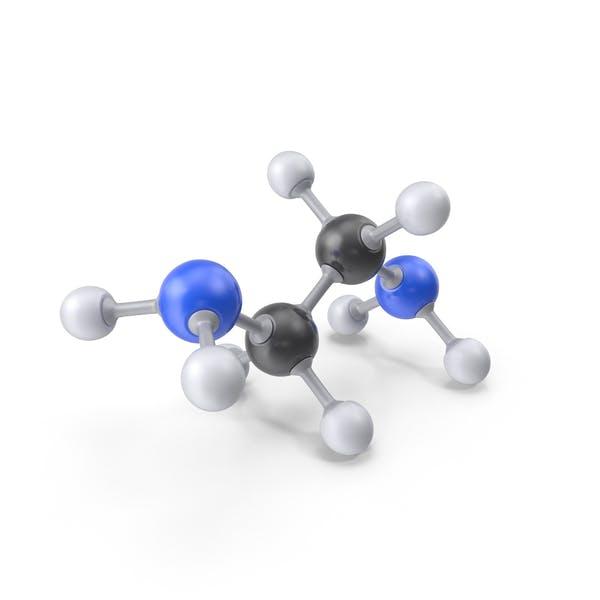 Молекула этилендиамина