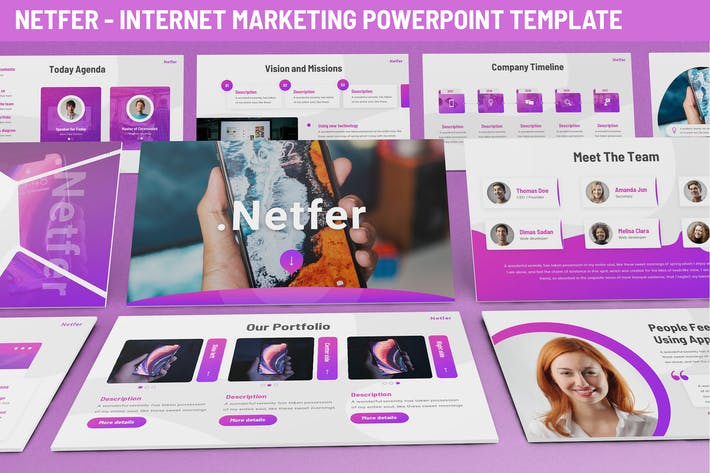 Thumbnail for Netfer - Internet Marketing Powerpoint Template