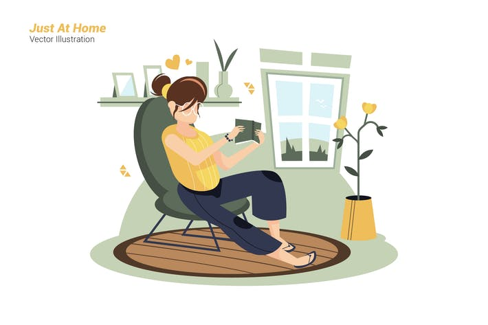 Thumbnail for Just At Home - Vector Illustration
