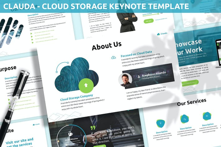 Thumbnail for Clauda - Cloud Storage Keynote Template