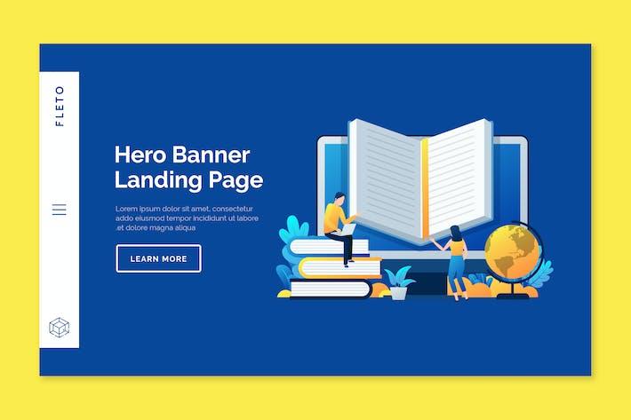 Thumbnail for Fleto - Hero Banner Template