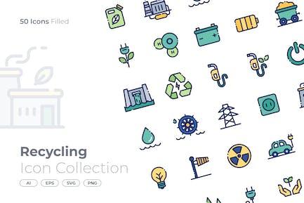 Recycling gefülltes Symbol