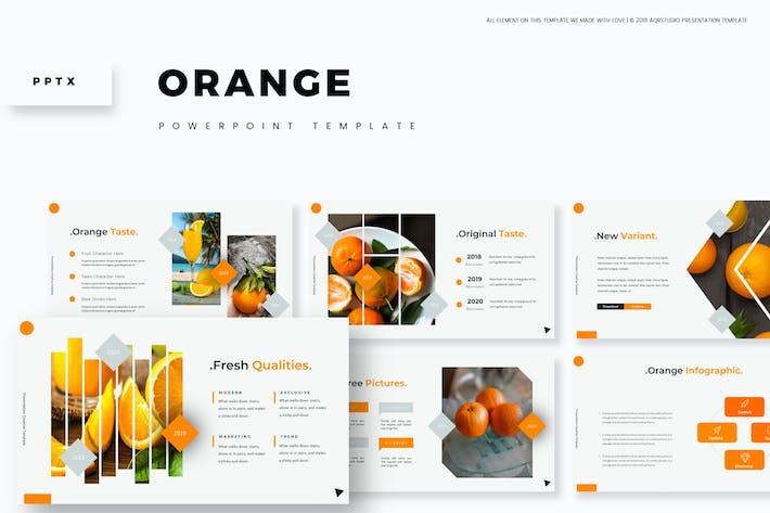Оранжевый - Powerpoint Шаблон