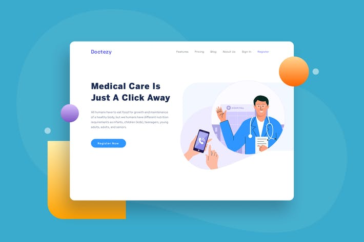 Thumbnail for Healthcare Call Doctor Appointment landing page