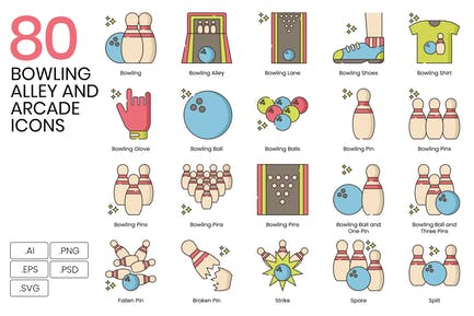Bowling Alley Icons