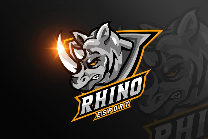 Thumbnail for Rhino Mascot & eSports Gaming Logo