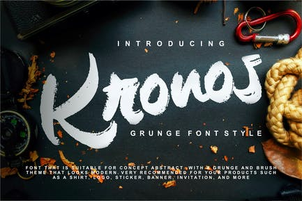 Kronos | Grunge Font Style